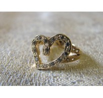Gold ring Heart 02