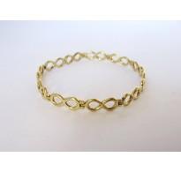 Gold bracelet Mobius