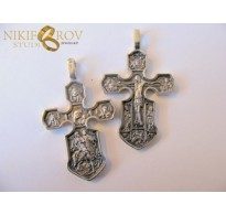 Silver Cross with two faces SC06
