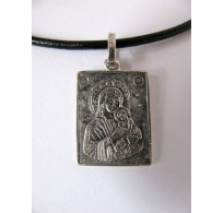 Silver Pendant / plate / Holly Mother